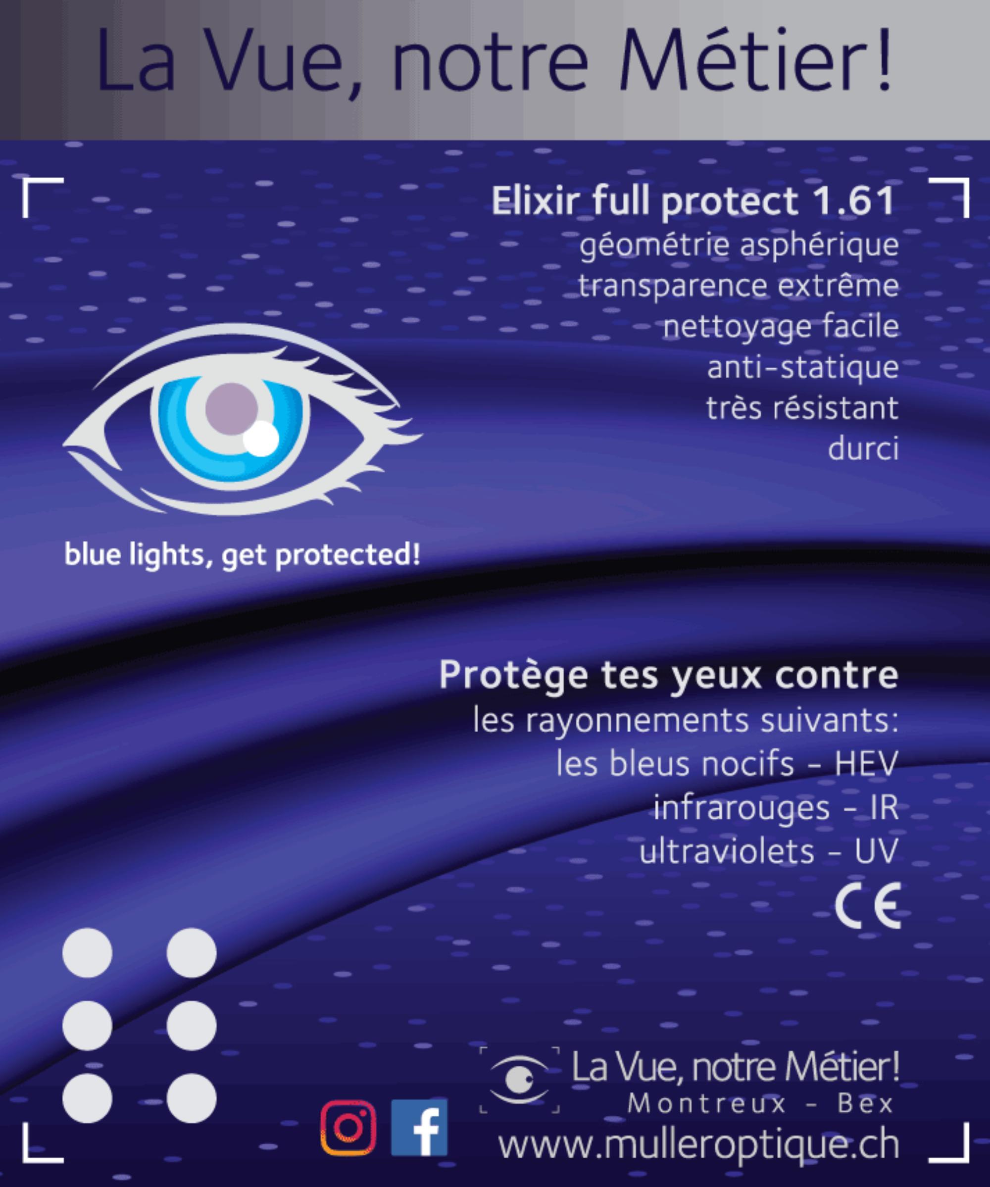 La Vue, notre Métier! Optique Muller SA - Opticien Montreux Bex Vaud Valais - Belles lunettes de Vue - lentilles de contact - examen test de la Vue